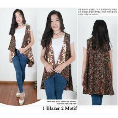 168 Collection Atasan Blouse Blazer Afira Blazer Batik