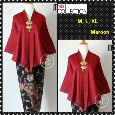 168 Collection Atasan Blouse Kebaya Floy Series-Maroon
