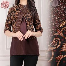168 Collection Atasan Wanita Long Tunik Poetri Kemeja Batik