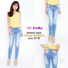 168 Collection Celana Holly Distro Jeans Pant-Soft Blue