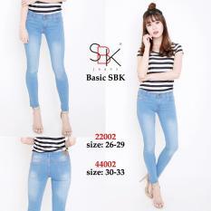 Toko 168 Collection Celana Jeans Panjang Jumbo Jessica Celana Wanita Biru Muda Murah Di Banten
