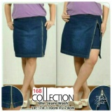 Promo 168 Collection Celana Jumbo Hotpant Zipny Jeans Pant Biru 168 Collection