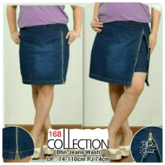 Jual Beli 168 Collection Celana Jumbo Hotpant Zipny Jeans Pant Biru