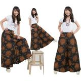Review 168 Collection Celana Kulot Rok Shanty Batik Long Pant Coklat Banten