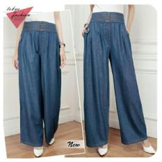 Harga 168 Collection Celana Levania Kulot Jeans Pant Biru Asli 168 Collection