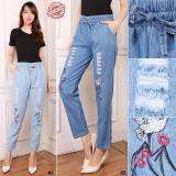 Beli 168 Collection Best Celana Panjang Jeans Nuril Long Pants Biru Muda Kredit