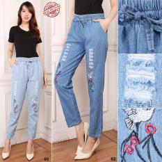 Harga 168 Collection Best Celana Panjang Jeans Nuril Long Pants Biru Muda Termurah