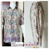 Jual 168 Collection Couple Atasan Kemeja Tina Dan Rok Lilit Batik Dusty Pink 168 Collection Di Banten