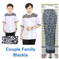 168 Collection Couple Family Nasir Kemeja Muslim Ayah Anak dan Rok Plisket Batik Jumbo