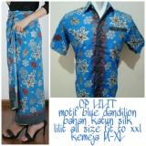 Spesifikasi 168 Collection Couple Rok Lilit Dannilon Maxi Dan Kemeja Batik Pria Merk 168 Collection