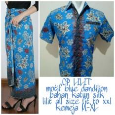 168 Collection Couple Rok Lilit Dannilon Maxi Dan Kemeja Batik Pria Di Banten