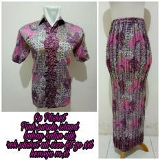168 Collection Couple Rok Plisket Slowly Maxi Jumbo dan Kemeja Batik Pria