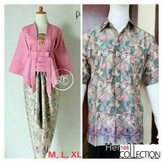 Spesifikasi 168 Collection Couple Stelan Atasan Blouse Dusty Kutubaru Dan Rok Lilit Batik Dusty Pink Murah Berkualitas