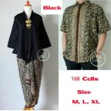 Cuci Gudang 168 Collection Couple Stelan Atasan Blouse Veronika Kebaya Dan Rok Lilit Batik Hitam
