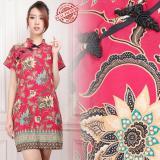 Harga 168 Collection Midi Dress Batik Yichang Short Dress Wanita Origin