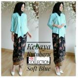 Review Tentang 168 Collection Stelan Atasan Blouse Moniq Kebaya Dan Rok Lilit Batik Soft Blue