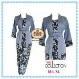 Review Toko 168 Collection Stelan Atasan Blouse Ryani Kebaya Dan Rok Lilit Batik Abu Online