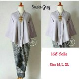 168 Collection Stelan Atasan Blouse Sartika Kebaya Dan Rok Lilit Batik Abu 168 Collection Diskon 40