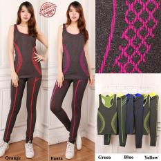 Cuci Gudang 168 Collection Best Stelan Baju Senam T Shirt Tanpa Lengan Jovina Dan Legging Jumbo Wanita