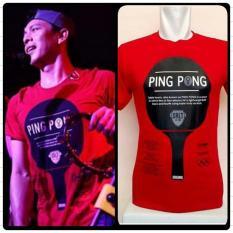 17 Ping Pong Merah T-Shirt Grlt Ariel / Kaos Baju Greenlight Ariel - 5335Ab