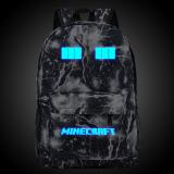 Cara Beli 18 5Inch Balck Lightning Minecraft Logo Teenagers Backpacks Night Luminous Travel Bags Sch**l Bag Shoulder Bags Gift For Boys Girls Intl