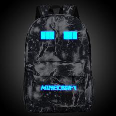 Harga 18 5Inch Balck Lightning Minecraft Logo Teenagers Backpacks Night Luminous Travel Bags Sch**l Bag Shoulder Bags Gift For Boys Girls Intl Oem Online