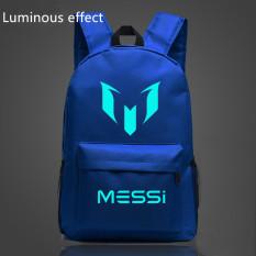 Promo 18 5 Inch Blue Barca Backpack Lionel Messi Glow Backpack Luminous Printing Backpack Star Tas Sekolah Untuk Remaja Intl Oem