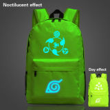 Diskon 18 Anime Naruto Sharingan Green Noctilucent Nylon Backpack For Teenage Boys Girls Sch**l Bags Intl Tiongkok