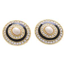 1901 Jewelry Circle Clip 2245 - Giwang Wanita - Hitam