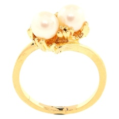 Jual 1901 Jewelry Two Pearl Ring Cincin Wanita Putih 1901 Jewelry Online