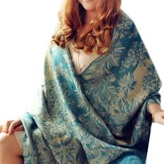 190 Cm X 70 Cm Wanita Wanita Gadis Motif Bunga Panjang Syal Lembut Fashion Pashmina Selendang