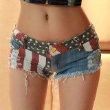 Beli 1 Pc Amerika Bendera Sebagai Mini Shorts Jeans Hot Pants Denim Pinggang Rendah Jogal Dengan Harga Terjangkau