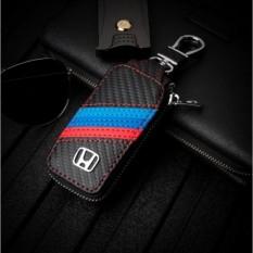 Harga 1 Pc Carbon Fiber Leather Dompet Kunci Mobil Key Case Untuk Honda Civic Crv Aksesoris Mobil Intl Baru Murah