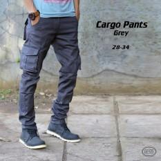 Perbandingan Harga 1St Celana Kargo Panjang Grey Original Pria Three Denim Di Jawa Barat