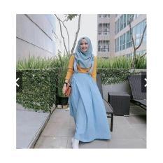 TotallyGreatShop Overall Kekinian - Gamis Syari Casual Remaja Balotelly - Maxy Dress Murah - Gamis Kodok Jumbo ihacha