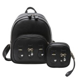 Toko 2 Bag Set Women Backpack Wallet Student Schoolbag Girls Travel Bags Black Intl Vakind