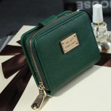 Jual 2 Fold Women Wallets Short Small Ladies Coin Purse Card Holderzipper Cluth Green 338776 As Main Picture Grosir