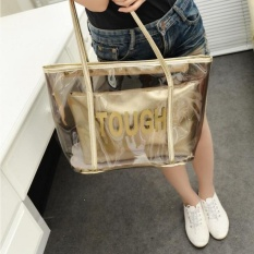 2 In 1 Candy Color Crystal Transparan Tas Bahu-Internasional