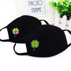 Jual 2 Pcs Men And Women Cotton Lovely Winter Personality Black Couple Dust Mask Warm Breathable Cartoon Ride Intl
