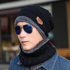 (In stock)Vococal 2 Pcs Unisex Winter Knit Hat dan Leher Hangat Syal Set 9e8513b7ae