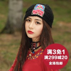 2 people story the original design ladys' wear embroider to spend a lady the trip hat race turban embroidery race in Yunnan breeze hat - intl