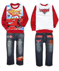 Harga Termurah 2 Pieces Boys 3 12 Years Old 95 145Cm Body Hight Cotton Jeans Pant Soft Thin Cotton Hoodies Sweaters Color As Pic Intl