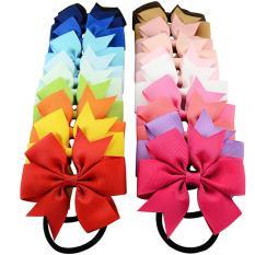 Spesifikasi 20 Buah Untuk Cewek Warna Solid Siml Tali Rambut Elastis Rambut Band Cincin Ikat Ekor Kuda Aksesoris Dudukan Hadiah Natal Internasional Vococal