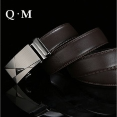 2015 Baru Otomatis Buckle Belt Pria Fashion Mens BusinessBelts. Mewah Merek Asli Kulit Tas Sabuk Pinggang untuk Pria Cintura Uomo-Intl