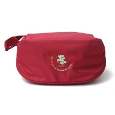 Harga 2015 Baru Tahan Air Travel Pouch Nylon Multifungsi Make Up Portable Underwear Bag Luggage Storage Bra Organizer Intl Lengkap