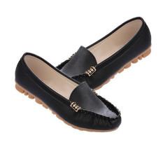 Harga 2015 Flats Slip Kulit Buatan Her At Her Balet Sepatu Boat Wanita Origin