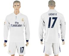 Pusat Jual Beli 2016 2017 Real Madrid Sepakbola Tim Rumah No 17 Lucas V Cepat Pengeringan Bernapas Soccer Jersey Suits Intl Tiongkok