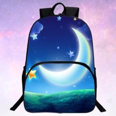 2016 3D Galaxy School Bag KIDS Anak Ransel untuk Remaja Casual Bag Rucksack Pria Wanita Tas Wanita dari Bahan Kulit INTL