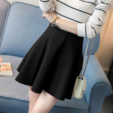 Review 2016 Autumn Korean Version New College Wind A Word Skirt Stretch High Waist Knitted Cotton Skirt Black Intl Tiongkok