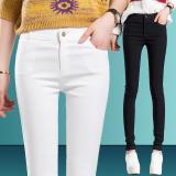 Ulasan Tentang 2016 Gugur Wanita Slim Fit Bottoming Celana 100 Katun Ankle Panjang Elastis Bentuk Pensil Putih Intl